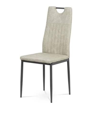 Jedálenská stolička OLINA sivá/antracit