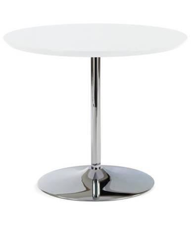 Jedálenský stôl PAOLO biela/chróm