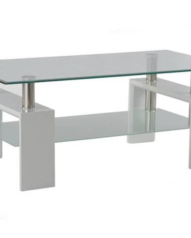 Konferenčný stolík TOLEDO biela/sklo