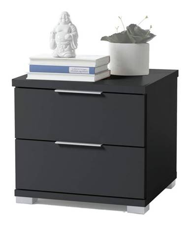 Nočný stolík KORON 2 čierna