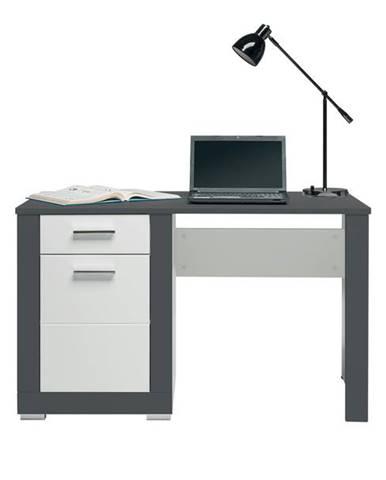 Písací stôl GREY biela/sivá