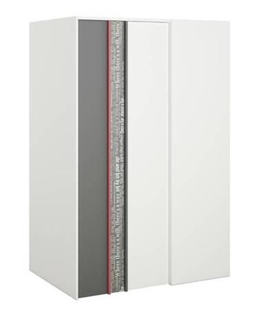 Šatníková skriňa PHILOSOPHY PH-00L biela/grafit, ľavá