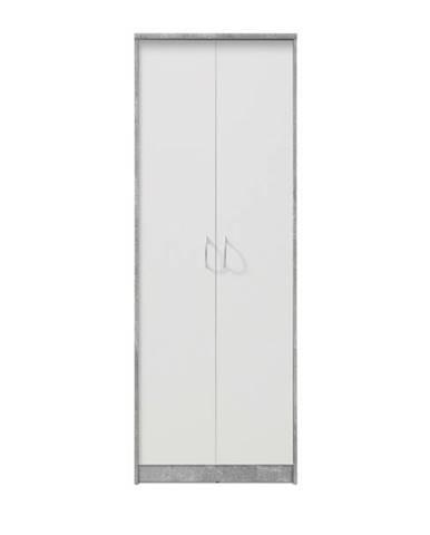 Skriňa OPTIMUS 70-002 sivá/biela