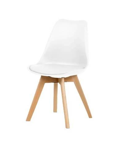 Jedálenská stolička JULIE biela