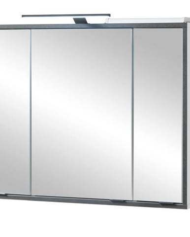Zrkadlová skrinka NEWPORT biela/antracitová
