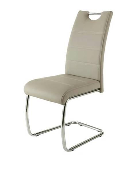 Sconto Jedálenská stolička FLORA S krémová, syntetická koža