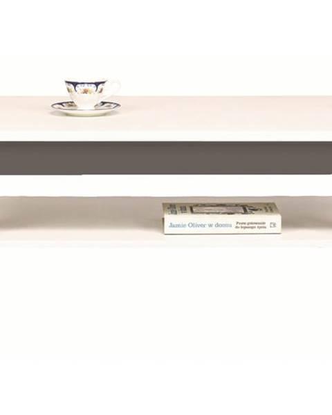 Sconto Konferenčný stolík WHITNEY GREY biela/sivá