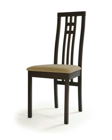 Jedálenská stolička AMANDA orech/béžová