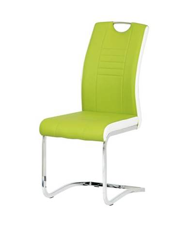 Jedálenská stolička ASHLEY zelenobiela
