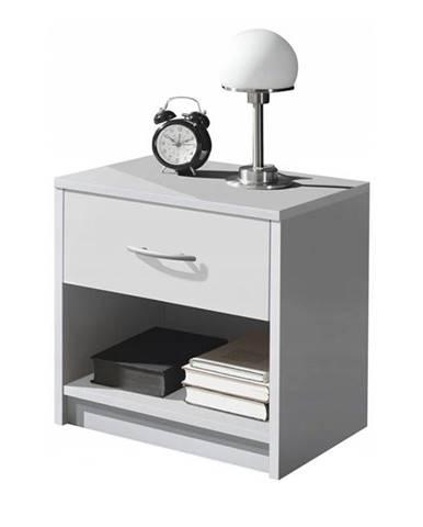 Nočný stolík BOBO biela