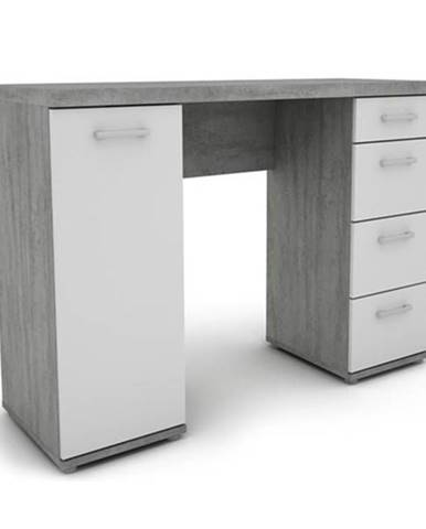 Písací stôl JOKER 32 biela/betón
