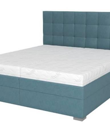 Posteľ DANA tyrkysová, 180x200 cm, s matracom
