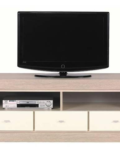 TV stolík ALEX AX2 tuja/jazmín vysoký lesk