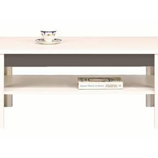 Konferenčný stolík WHITNEY GREY biela/sivá