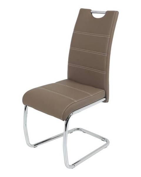 Sconto Jedálenská stolička FLORA S hnedá, syntetická koža