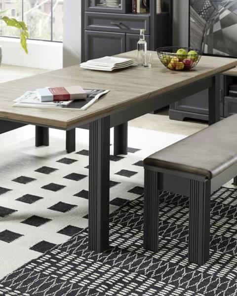Sconto Jedálenský stôl JASMIN grafit/dub artisan