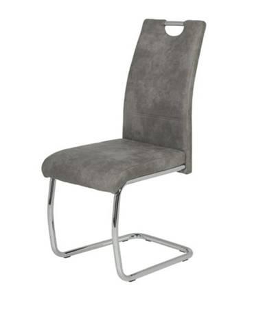 Stolička FLORA II sivá