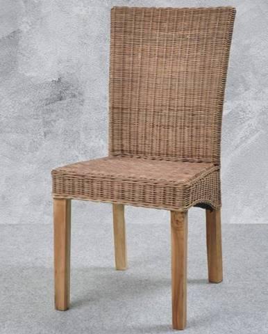Jedálenská stolička KAYK prírodná/ratan
