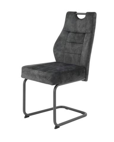 Jedálenská stolička LINDA S antracitová