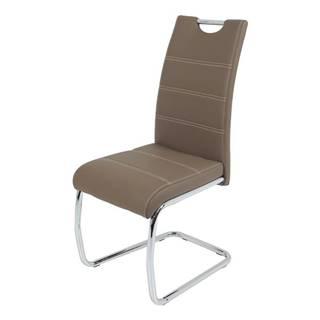 Jedálenská stolička FLORA S hnedá, syntetická koža