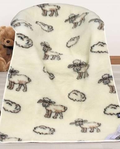 Bellatex Vlnená deka Európske merino Ovečka, 100 x 150 cm