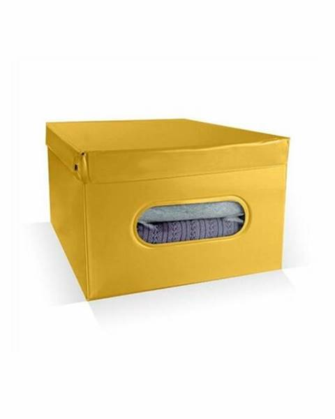 Compactor Compactor Úložný box Nordic 50 x 38,5 x 24 cm, žltá