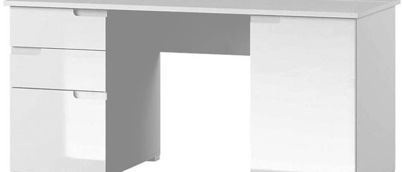 Písací stôl 2D Selene 15 Biely