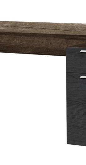 Písací stôl NET dub bahnitý/dub čierny